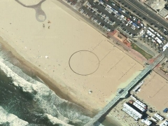Crop circle in sand (Crop circle) - cache image