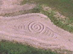 Rhoose sand sign : spiral (Sign)