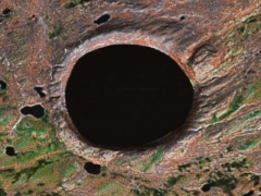 3 km hole crater (Record)