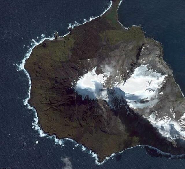 Heard Island Volcano Strange Google Earth Maps