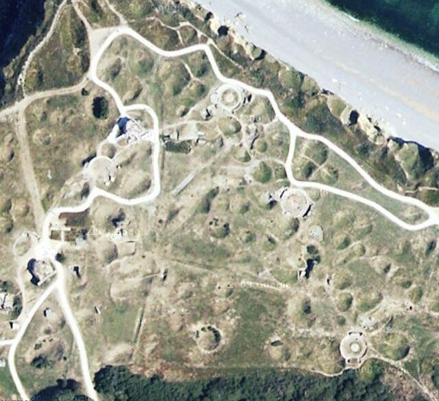 La Pointe Du Hoc War Strange Google Earth Maps