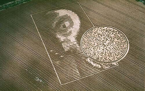 Bubble crop (Crop circle) - similarity image