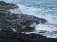 Sea against lava (Volcano) - similarity
